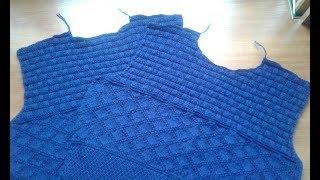 Пуловер (свитер) спицами для мужчин. Часть 4. Горловина переда.