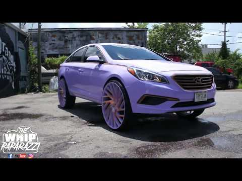 "Hyundai Sonata on 28"" Azara AZA-505 Wheels"