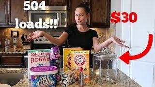 HOW TO MAKE YOUR OWN LAUNDRY DETERGENT! DIY LAUNDRY DETERGENT RECIPE