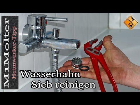Wasserhahn Sieb reinigen / Wasserhahn verkalkt / Perlator reinigen.