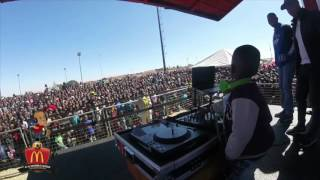 DJ Arch Jnr and Ronald McDonald Getting Down for the Kids (4yrs) Worlds Youngest DJ
