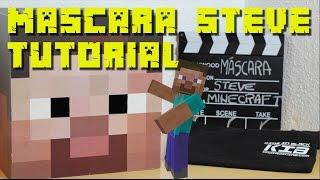 Tutorial Hacer la máscara de Steve Minecraft - Disfraz de Steve en el mundo real
