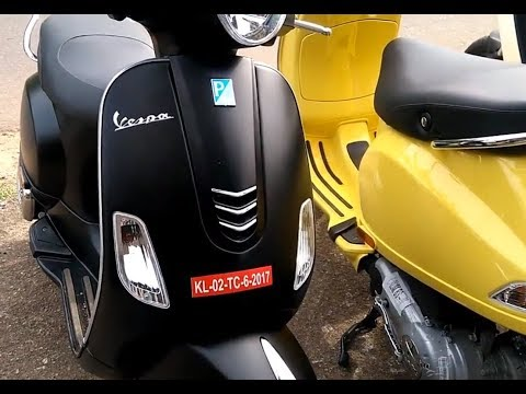 Piaggio Vespa Scooter Complete Review   Vespa SXL and VXL Complete Specification