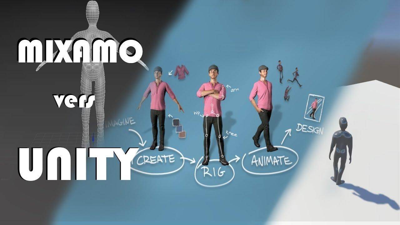 Tuto UNITY - Comment utiliser facilement MIXAMO avec UNITY