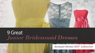 9 Great Junior Bridesmaid Dresses Amazon Winter 2017  Collection