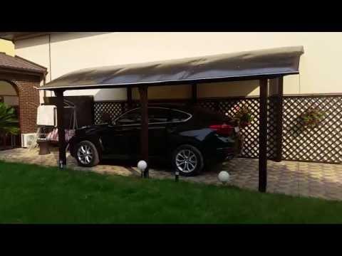 Copertina garaj  din lemn, probabil cel mai frumos garaj din Romania!