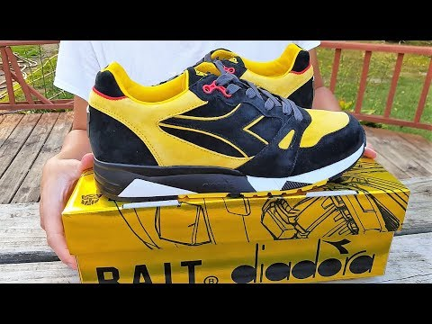 """BAIT X TRANSFORMERS X DIADORA PACK S8000 """"BUMBLE BEE"""" Review!!! Super Lmited!!! Only 100 Pairs!"""