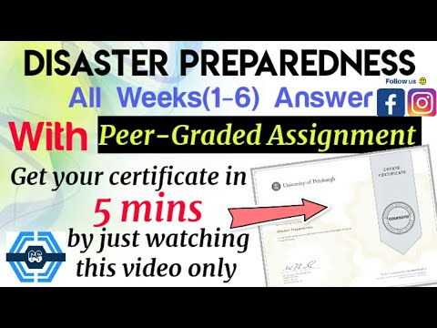 Disaster preparedness - Coursera, all week(1-7) quiz answers with ...