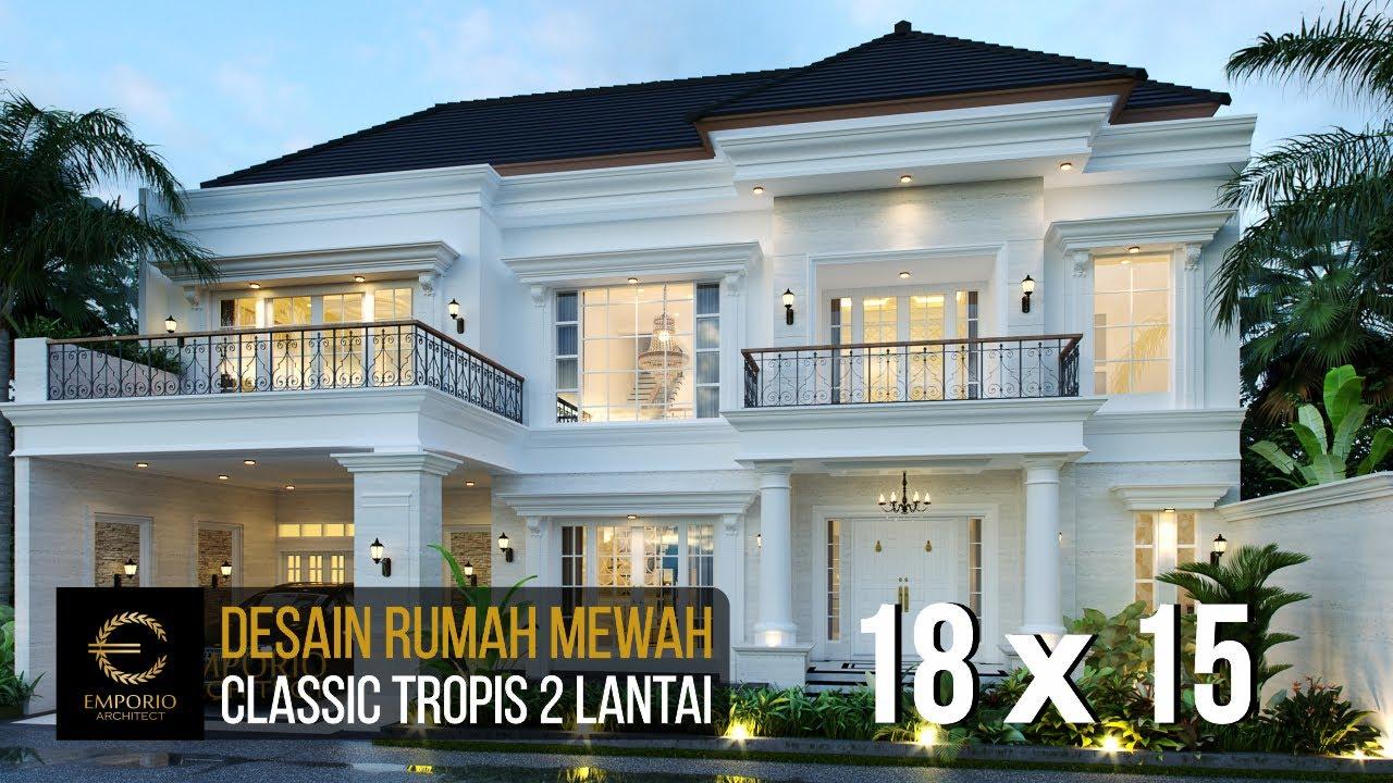 Video 3D Desain Rumah Classic 2 Lantai Bapak Deni III di Karawang, Jawa Barat
