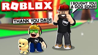 MY DAD GIFTED ME A PET in ROBLOX ADOPT ME!!!