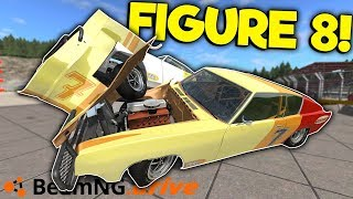 INSANE FIGURE 8 & OFF ROAD RACE CRASHES! - BeamNG Gameplay & Crashes - Jumps & Stunts