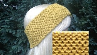 How To Knit Earwarmers / Headband Pattern #91│by ThePatternFamily