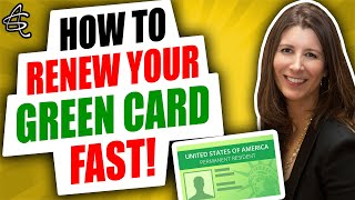 HOW TO RENEW YOUR GREEN CARD FAST! Green Card Expiring and Need to Renew to Travel or Work