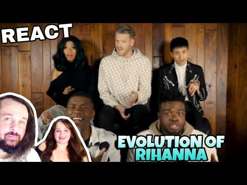 REAGINDO: PENTATONIX - EVOLUTION OF RIHANNA