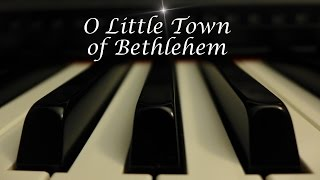 O Little Town of Bethlehem - Christmas Hymn on Piano with lyrics