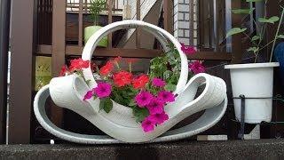 Arte em Pneus, vasos ornamentais para flores, enfeites para jardins