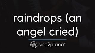 raindrops (an angel cried) [Piano Karaoke Instrumental] Ariana Grande