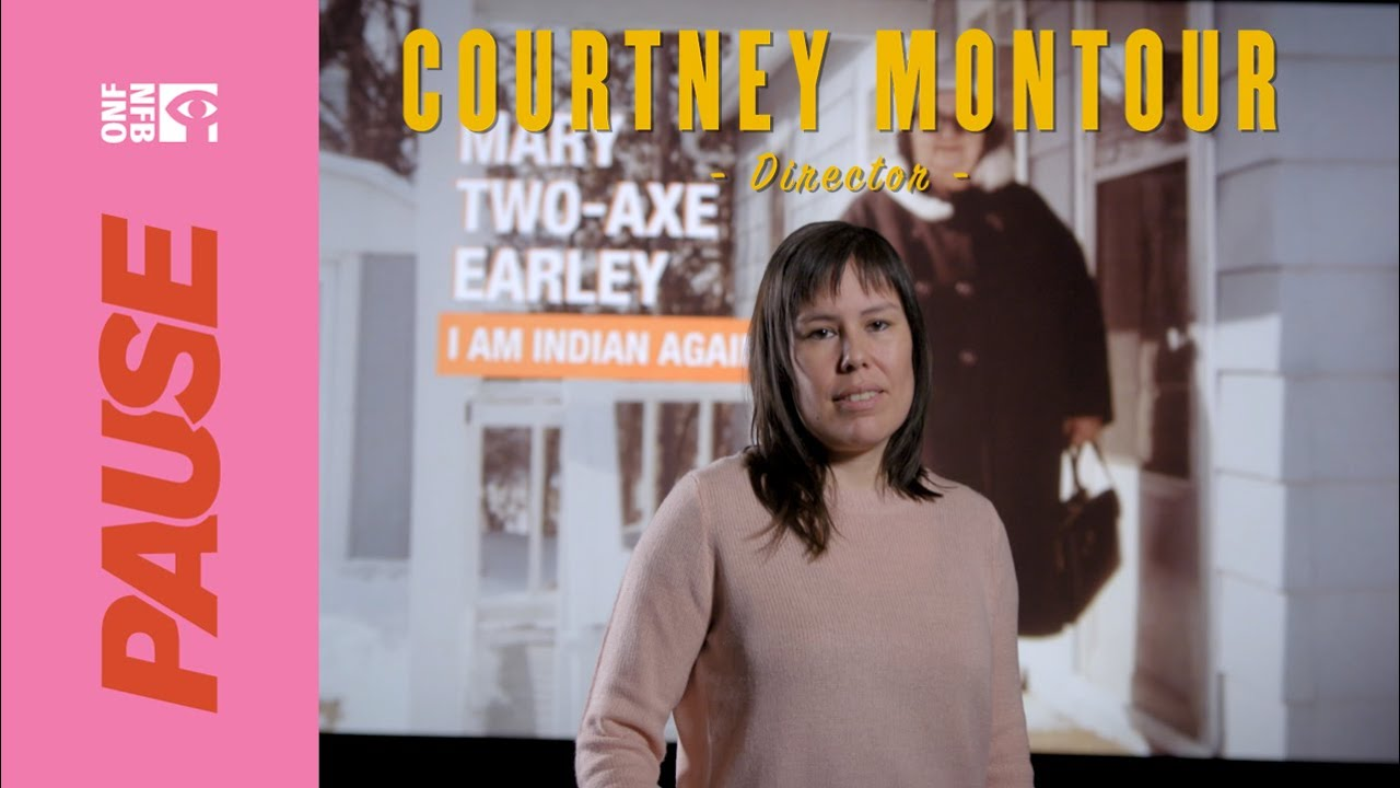 Video of Courtney Montour describing her new documentary on Mary Two-Axe Earley.