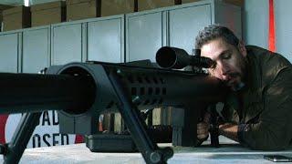 重型狙击步枪有多猛?枪管比大腿还粗,一枪打爆面包车,简直凶残