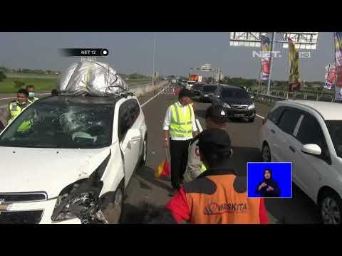 Terjadi Kecelakaan Tunggal di Ruas Tol Pemalang Batang Semarang - NET 12