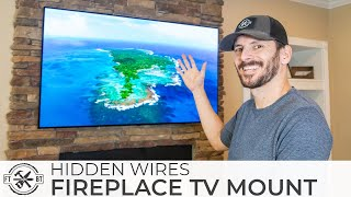 How to Mount a TV Above a Fireplace and Hide Wires
