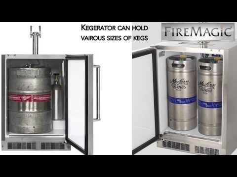 Fire Magic 24-Inch Dual Tap Kegerator
