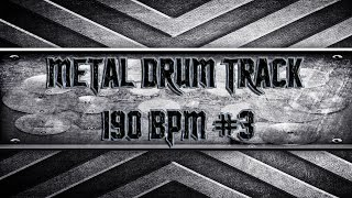 Typical Thrash Metal Drum Track 190 BPM (HQ,HD)