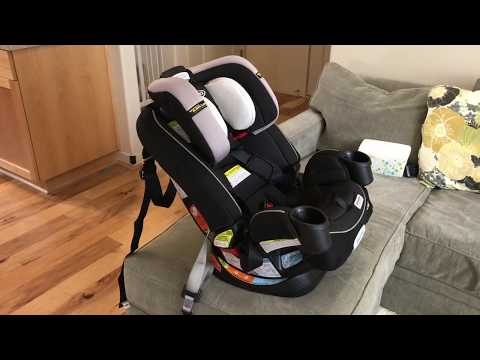 How To Install Graco 4ever All-in-One Convertible Car Seat (Forward & Rear Facing Tutorial)