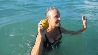 Mermaid Mango in the Sea