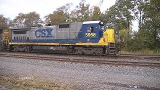 preview picture of video '(13) CSX B40-8 Leading @ Westfield  Oct. 10 2014'