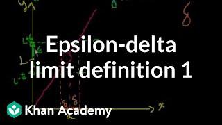 Epsilon-delta limit definition 1 | Limits | Differential Calculus | Khan Academy