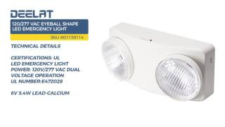120/277 VAC Eyeball Shape LED Emergency Light