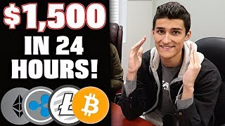 How I Made $1,500 Trading CryptoCurrency Litecoin & Bitcoin (LTC, BTC, ETH, XRP)