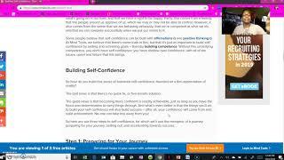 Building Self Confidence Pt 2