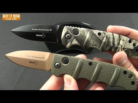 "Boker Kalashnikov Dagger Automatic Knife OD Green (3.25"" Black)"