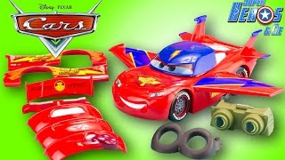 Disney Cars Flash McQueen Transformable Gear Up and Go Transforming McQueen Jouet Juguetes Rayo