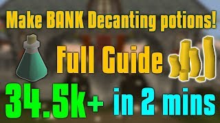 OSRS Full Guide: How to Decant potions for profit!