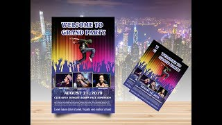 Coreldraw X7 Tutorial - How to make flyer Dance Party Designs by Graphics Designs