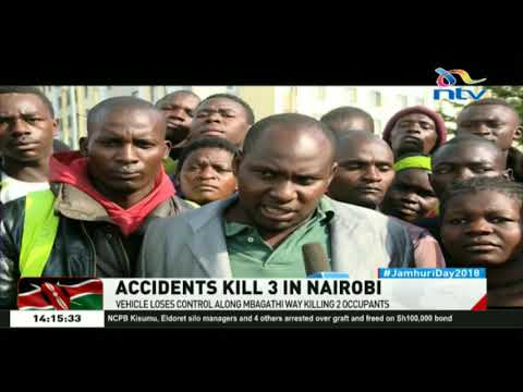 Vehicle loses control along Mbagathi way killing 2 occupants