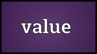 Value Meaning