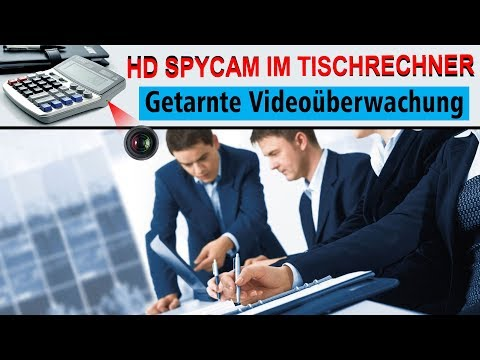 SPYCAM MINI HD IM TASCHENRECHNER- Videoüberwachung, getarnte-Spionkamera, Minikamera
