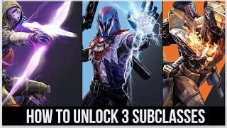 Destiny: How to Unlock the Subclass for Hunter, Titan, & Warlock - (GAMEPLAY) !