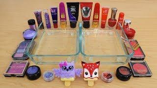 Purple vs Red - Mixing Makeup Eyeshadow Into Slime! Special Series 189 Satisfying Slime Video