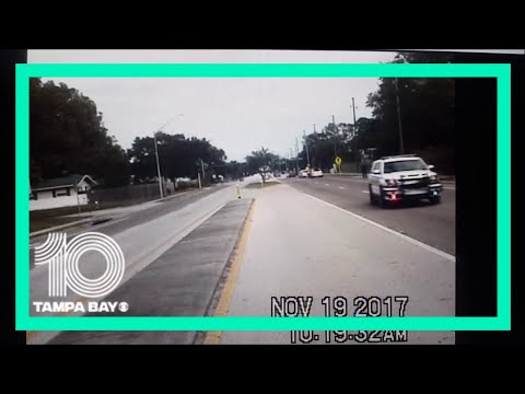 Dash-cam video of plane as it was crashing in Clearwater