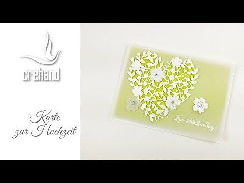Karte zur Hochzeit selbst gestalten - Kreativ mit crehand & Stampin' Up!