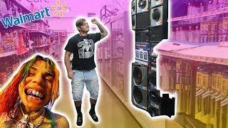 "6IX9INE ""Tati"" Speaker Challenge in WALMART!"