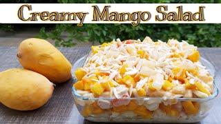 Creamy Mango Salad   Best Summer Dessert   Russian Salad Recipe   Cook with Tuba