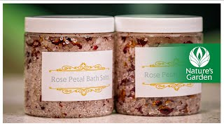 How To Make Floral Bath Salts- Natures Garden