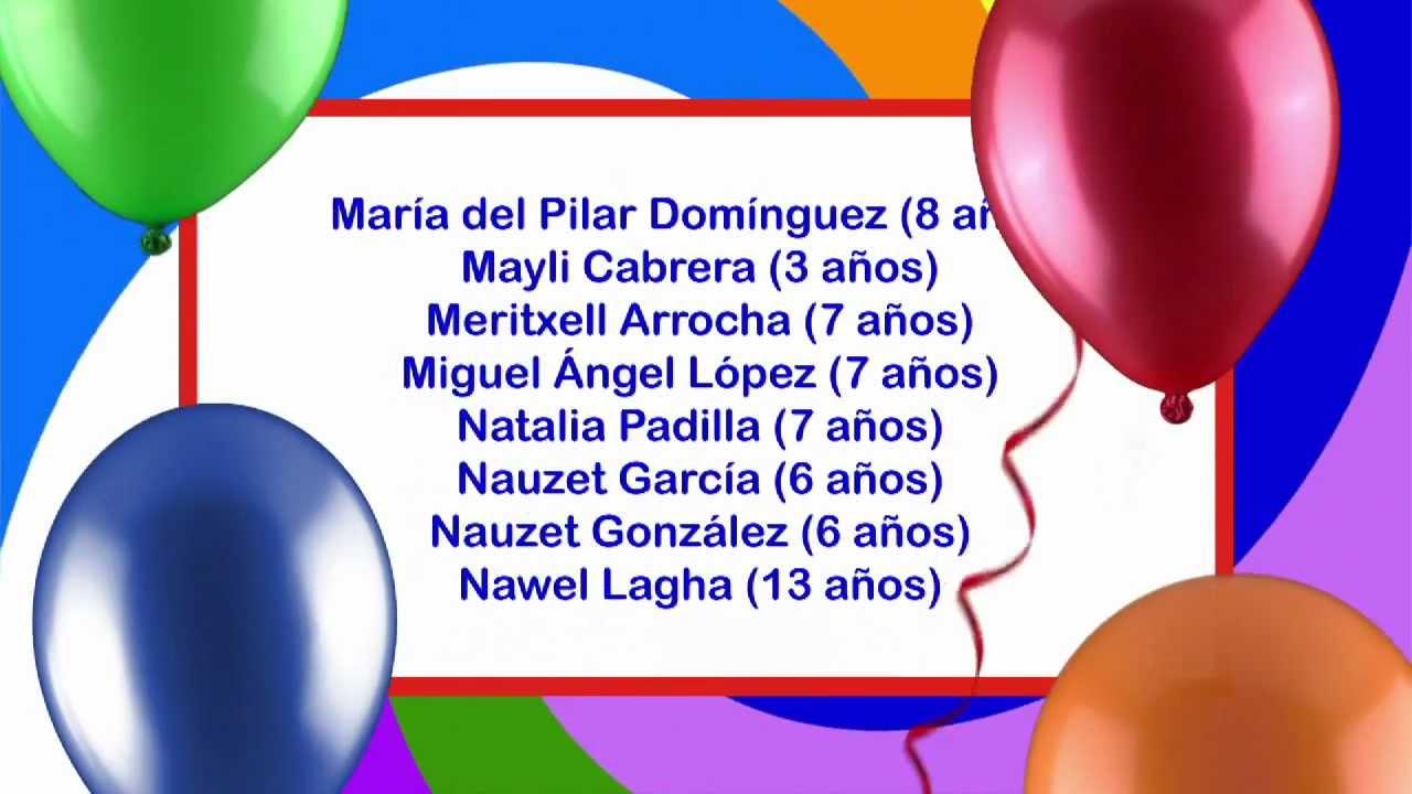 Archicumpleaños del 3 al 9 de marzo