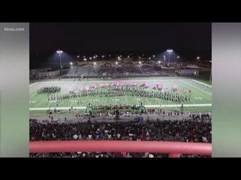 Pearland High School marching band in 2020 Rose Parade